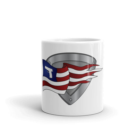 2nd Amendment Gun Flag & Shield Mug