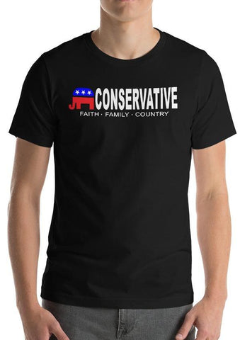 "Conservative ""Faith, Family, Country"" T-Shirt"
