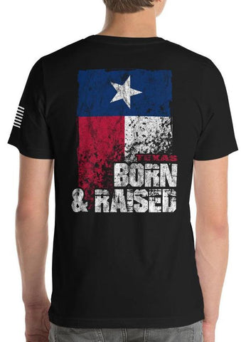Texas Born And Raised Flag T-Shirt