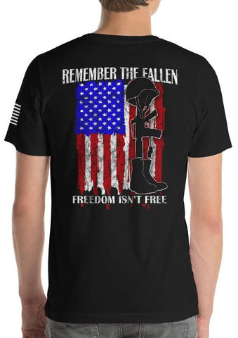 Remember The Fallen, Freedom Isn't Free American Flag T-Shirt
