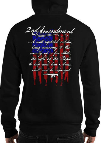 2nd Amendment, Patriotic American Flag, Pro-Gun Hoodie / Sweatshirt