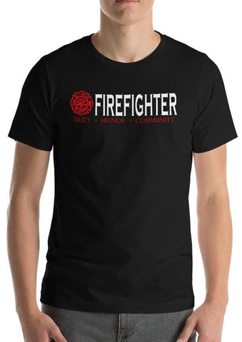 "Firefighter ""Duty, Honor, Community"" T-Shirt"