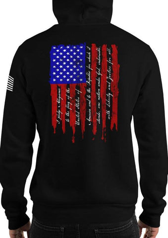 Pledge of Allegiance Patriotic American Flag Hoodie / Sweatshirt