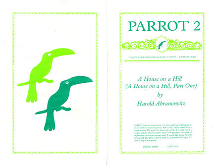 PARROT 2 A House on a Hill (A House on a Hill, Part One) by Harold Abramowitz
