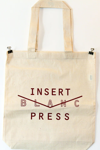 Insert Blanc Press Tote Bag