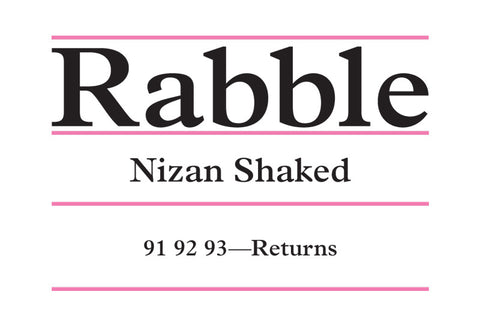 Rabble: Nizan Shaked