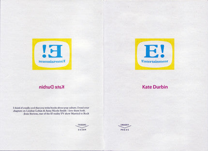 E! Entertainment by Kate Durbin