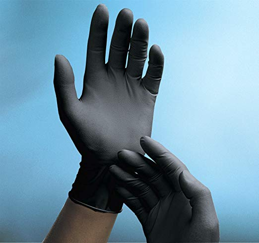 Adenna - Latex Gloves (X-Small, Black) - Phantom