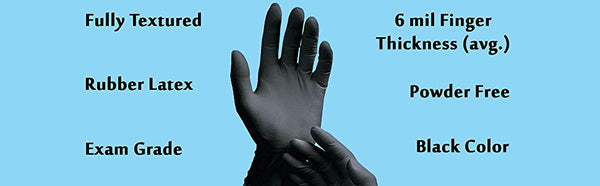 Adenna - Latex Gloves (Small, Black) - Phantom