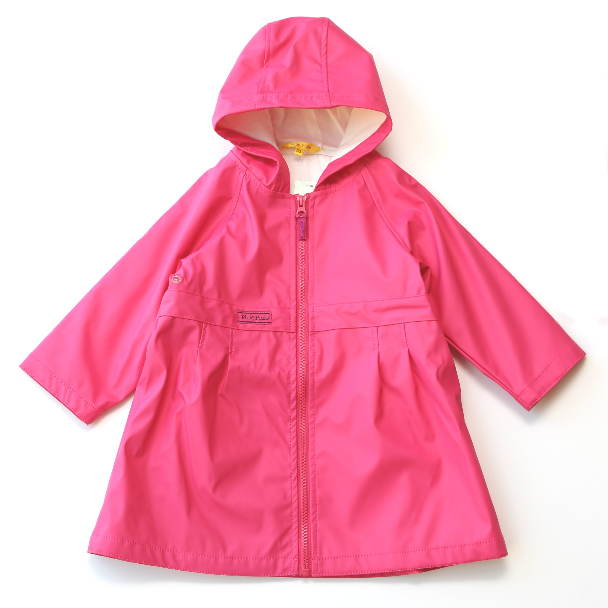 Pluie Pluie Girls Solid Fuchsia Raincoat