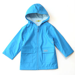Pluie Pluie Boys Solid Blue Raincoat