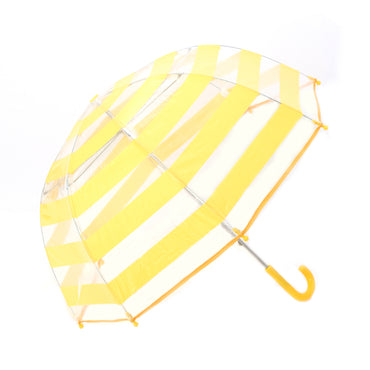 Pluie Pluie Girls Clear Umbrella with Yellow Stripes