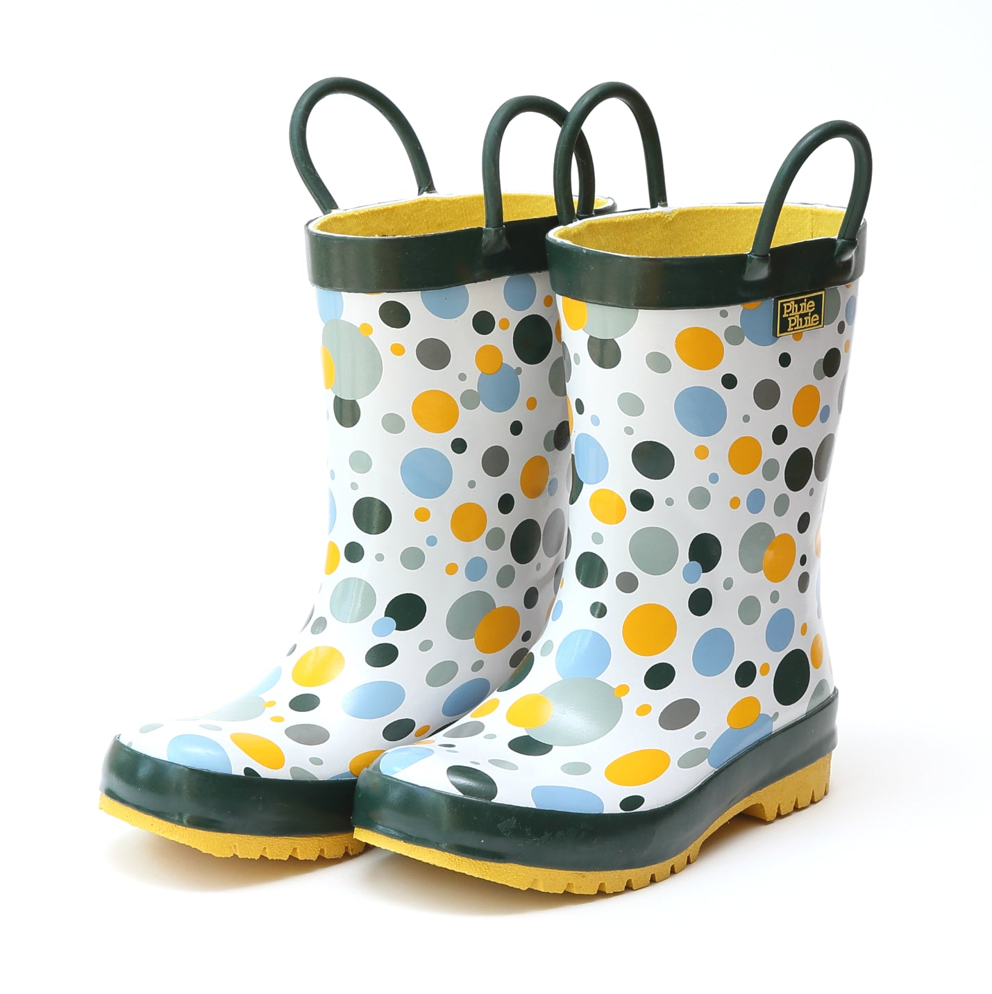 Pluie Pluie Girls Multi Dot Rain Boot