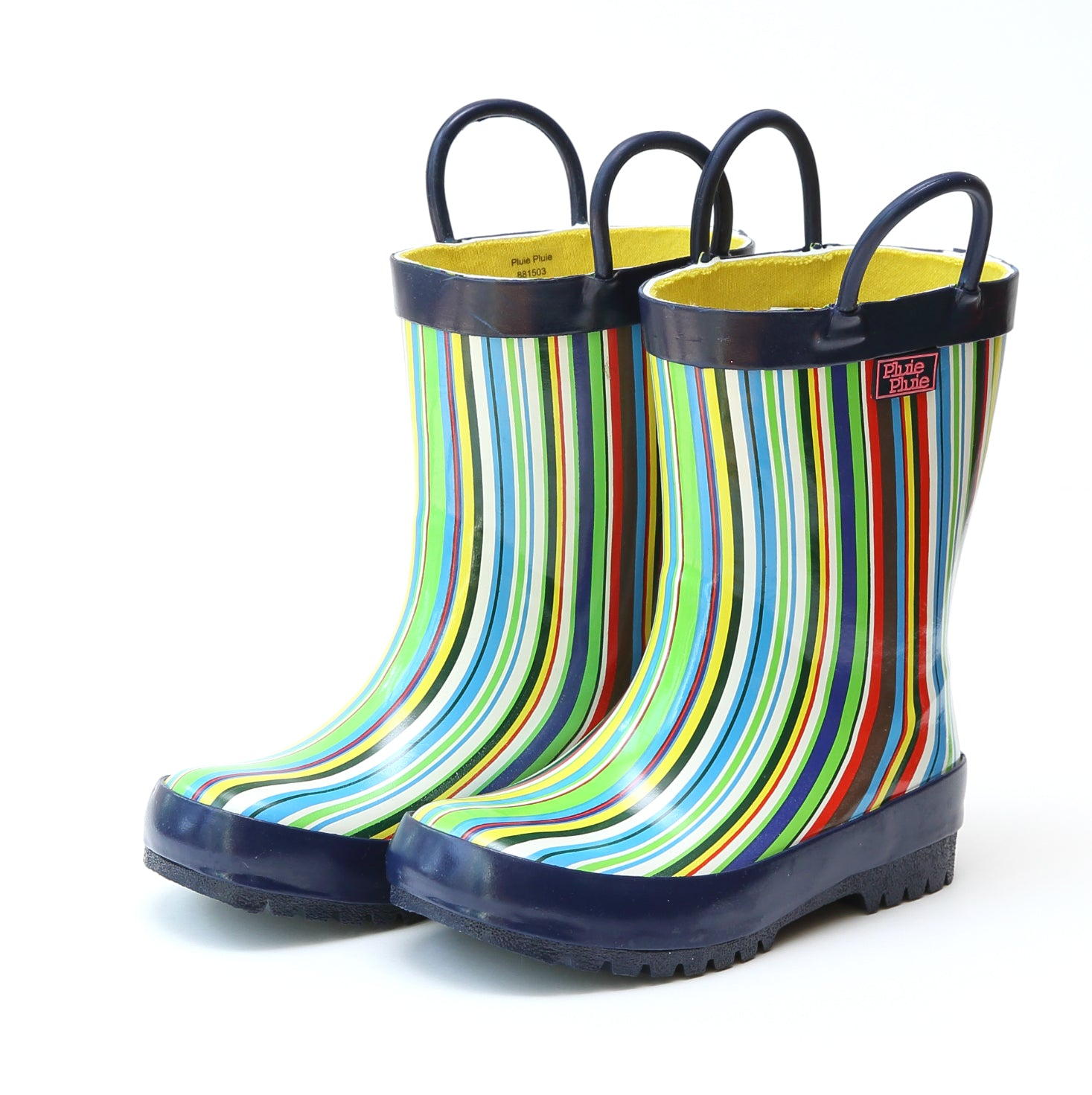 Pluie Pluie Boys Blue Stripe Rain Boot