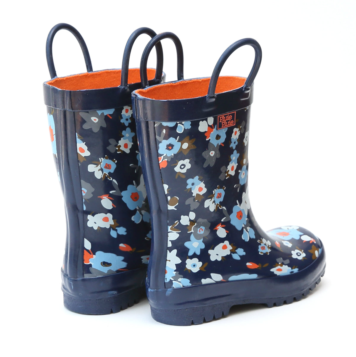 Pluie Pluie Girls Navy Flower Rain Boot
