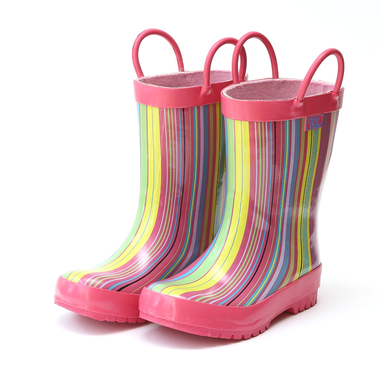 Pluie Pluie Girls Pink Stripe Rain Boot