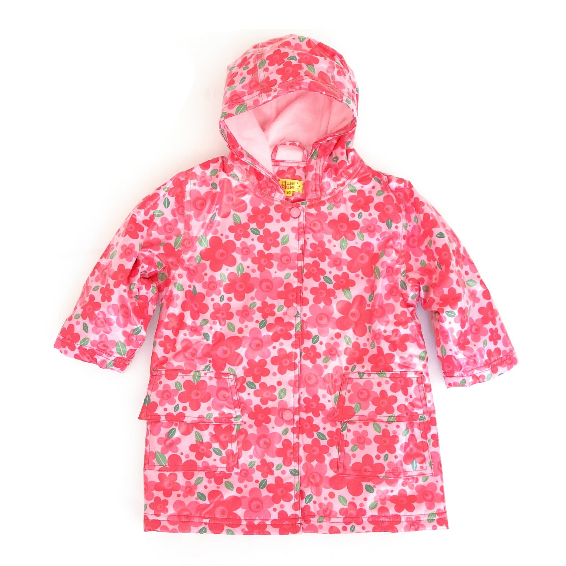 Pluie Pluie Girls Pink Flower Raincoat