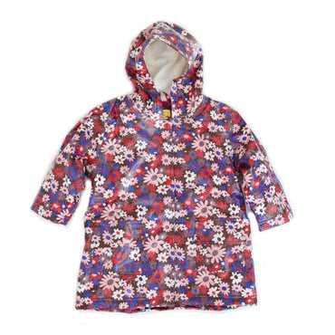 Pluie Pluie Girls Brown Flower Raincoat