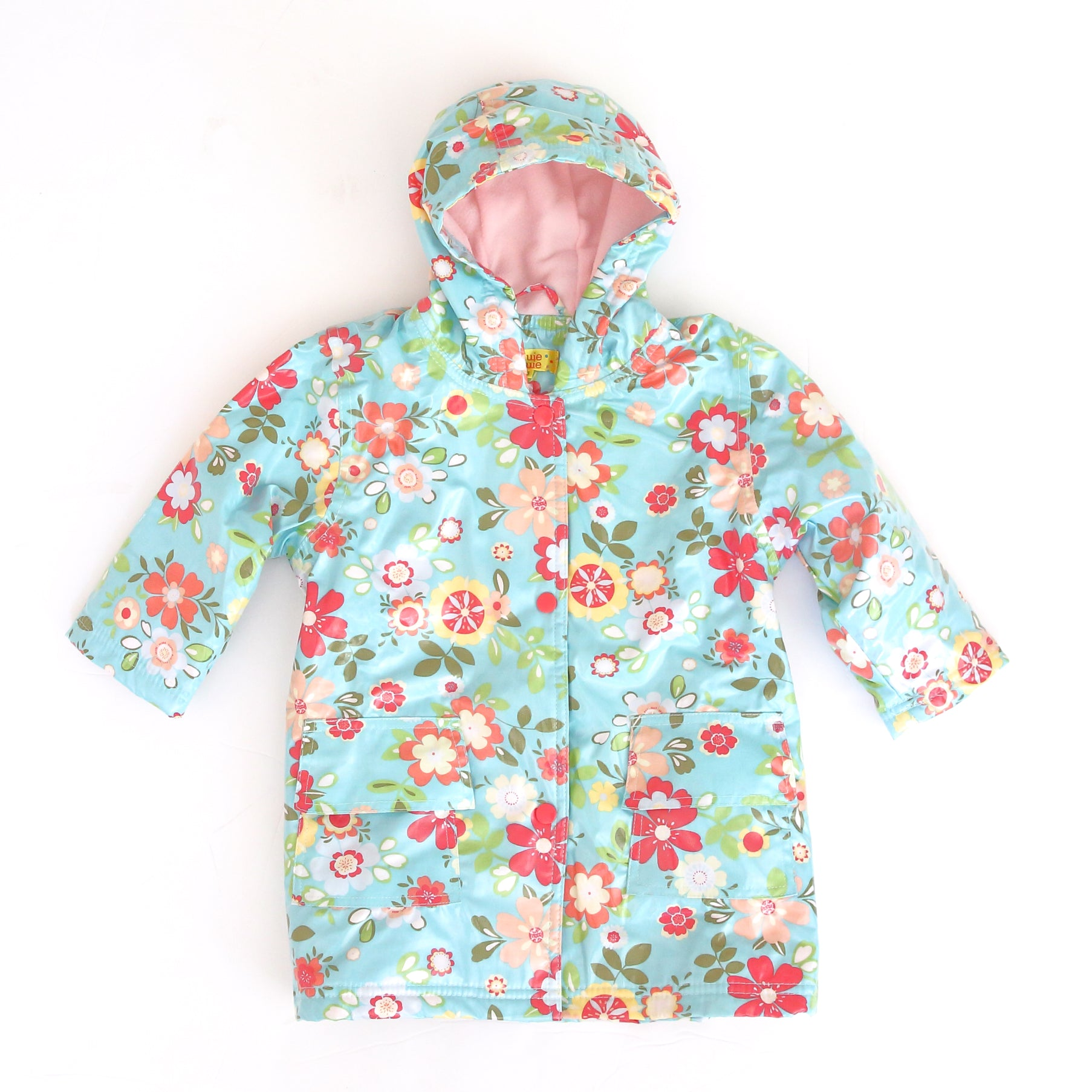 Pluie Pluie Girls Blue Floral Raincoat