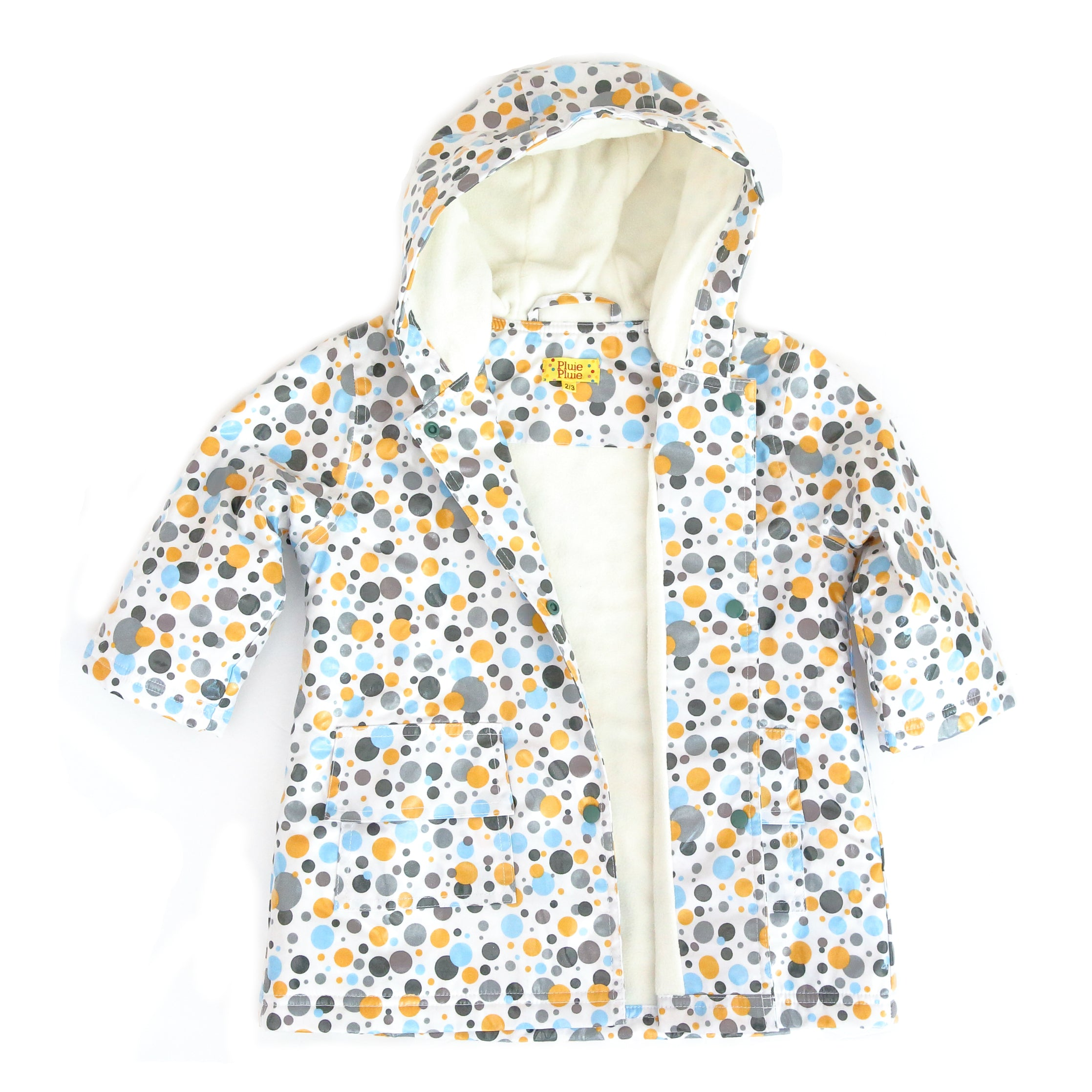 Pluie Pluie Girls Multi Dot Raincoat