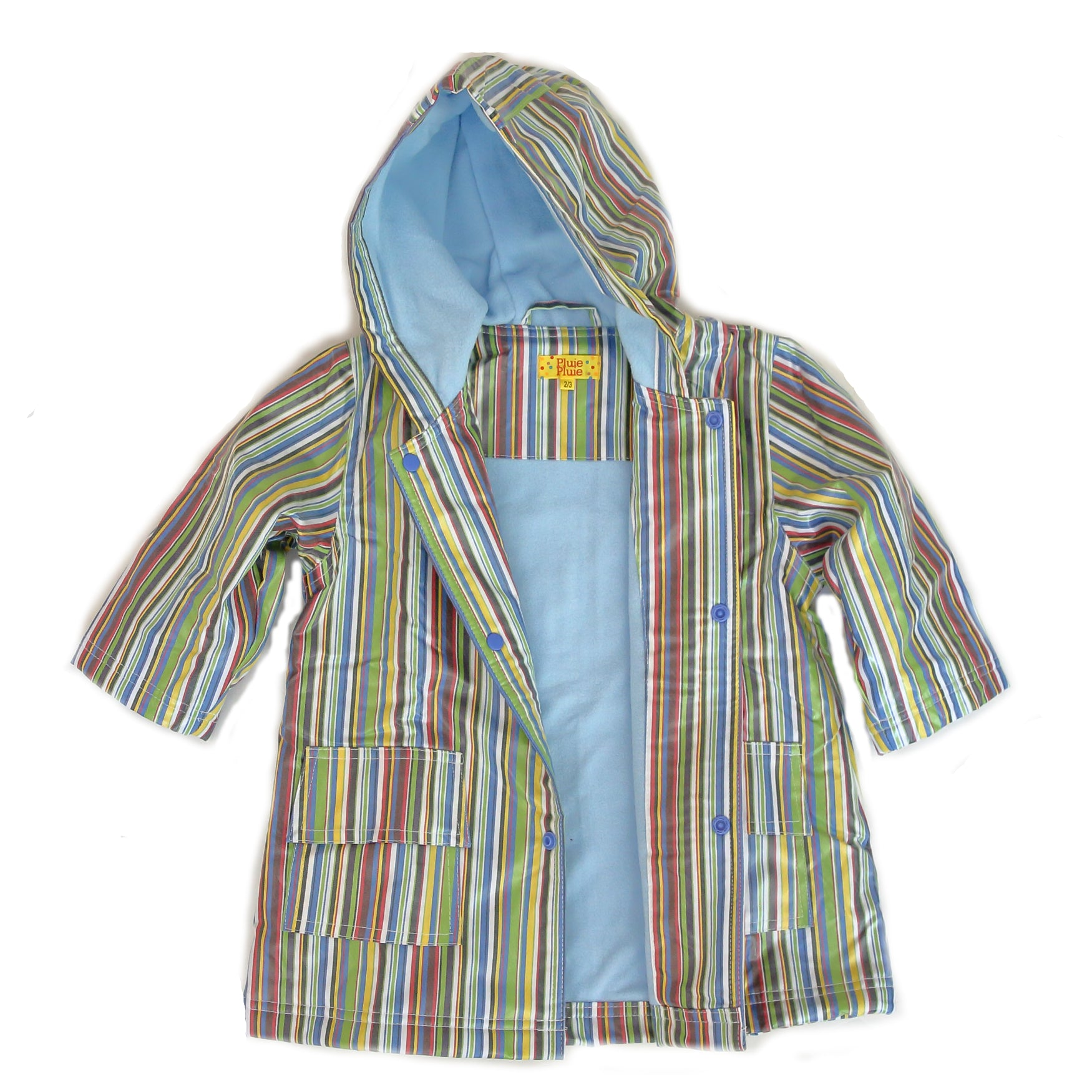 Pluie Pluie Boys Blue Stripe Raincoat