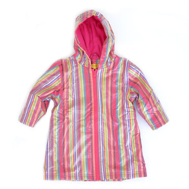 Pluie Pluie Girls Pink Stripe Raincoat
