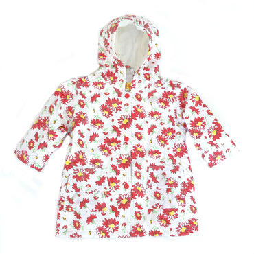 Pluie Pluie Girls Red Flower Raincoat