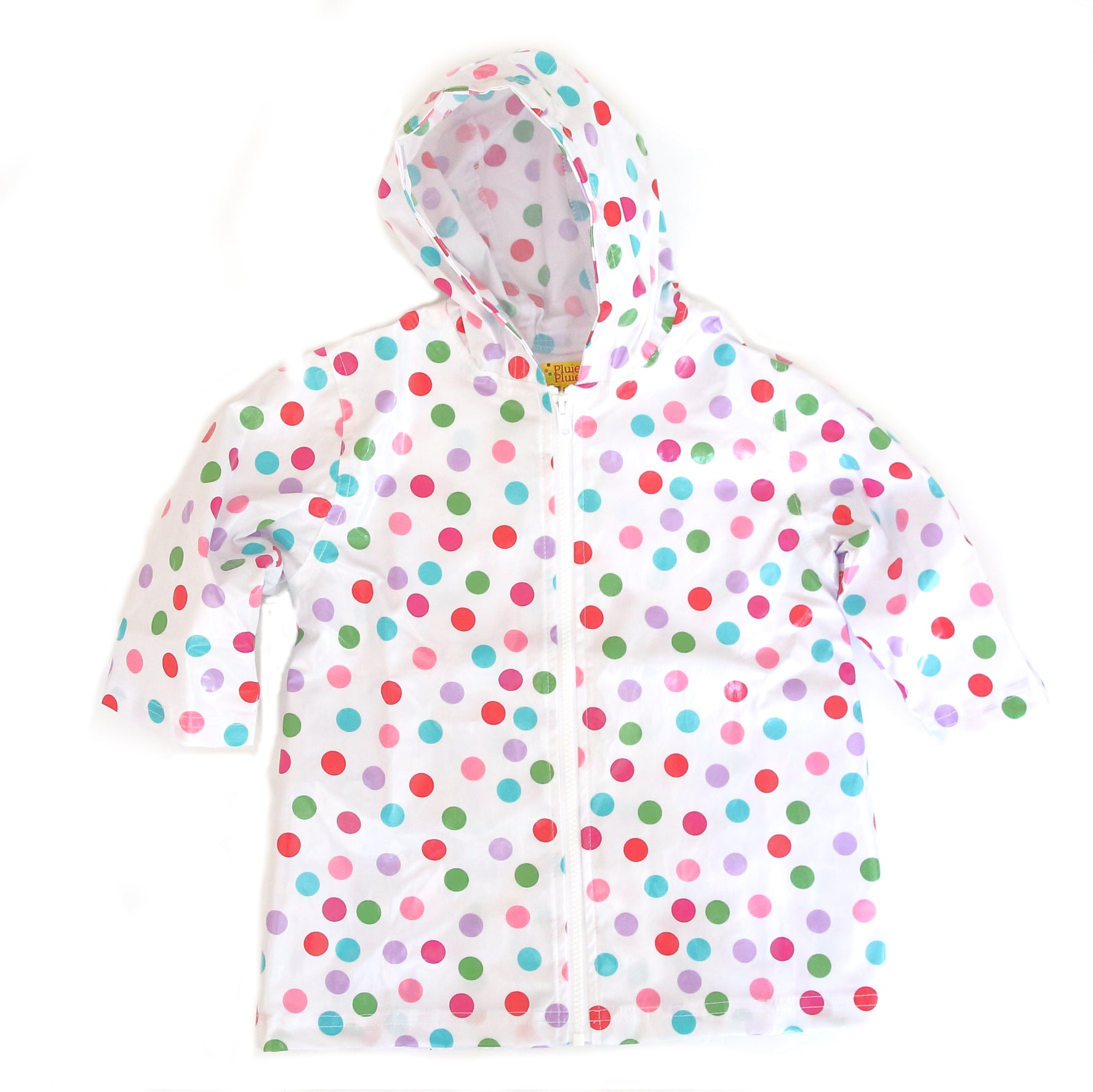 Pluie Pluie Girls Polka Dot Raincoat
