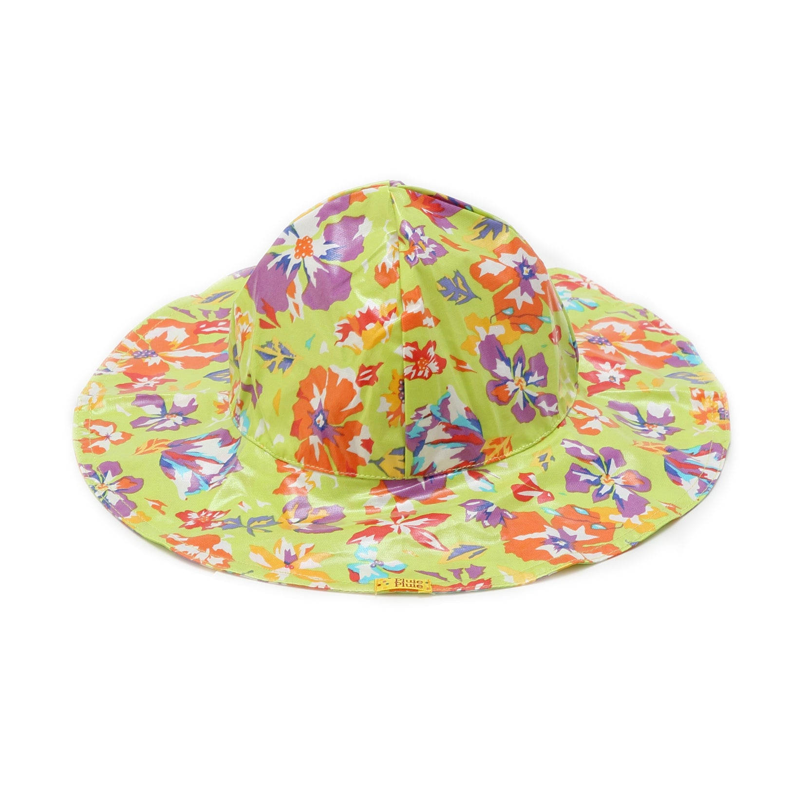 Pluie Pluie Girls Lime Flower Rain Hat