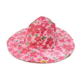 Pluie Pluie Girls Pink Flower Rain Hat