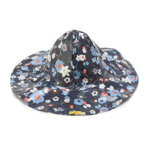Navy Flower Rain Hat