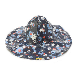 Pluie Pluie Girls Navy Flower Rain Hat