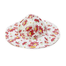 Pluie Pluie Girls Red Flower Rain Hat