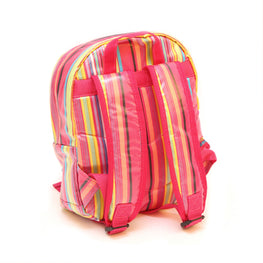 Pluie Pluie Girls Pink Stripe Backpack