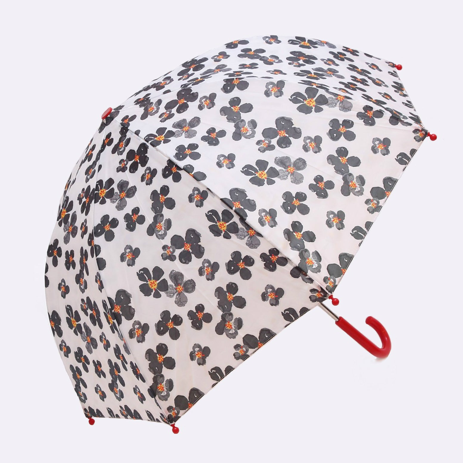 Pluie Pluie Girls Black Flower Umbrella