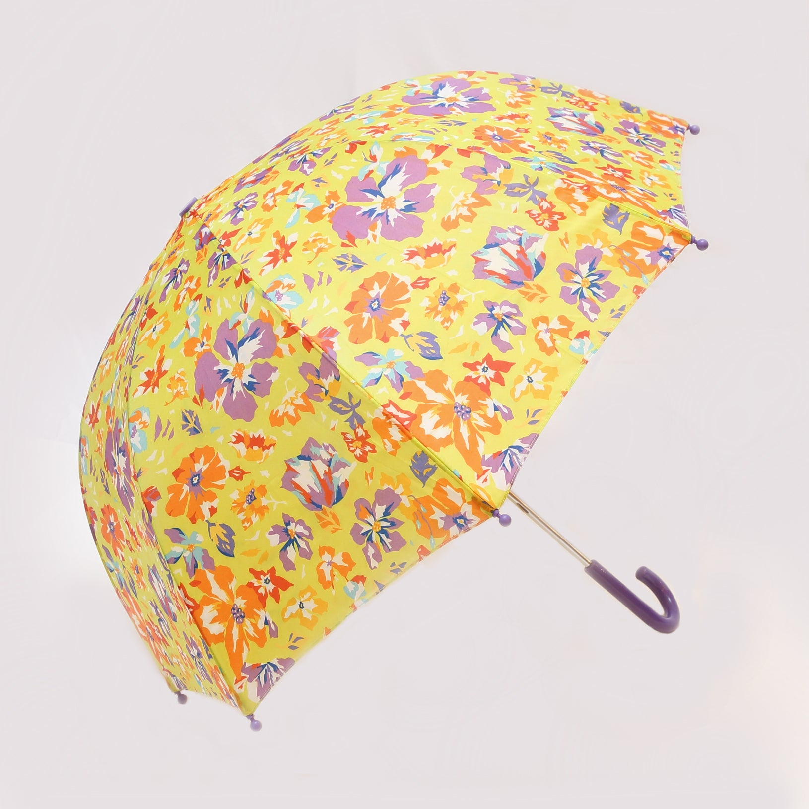 Pluie Pluie Girls Lime Flower Umbrella