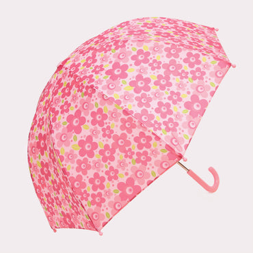 Pluie Pluie Girls Pink Flower Umbrella