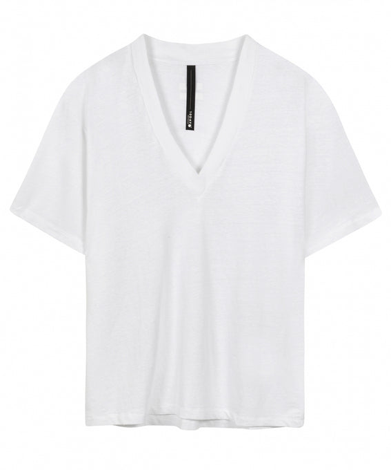 10DAYS Amsterdam unisex bestbasics THE LINEN V-NECK TEE