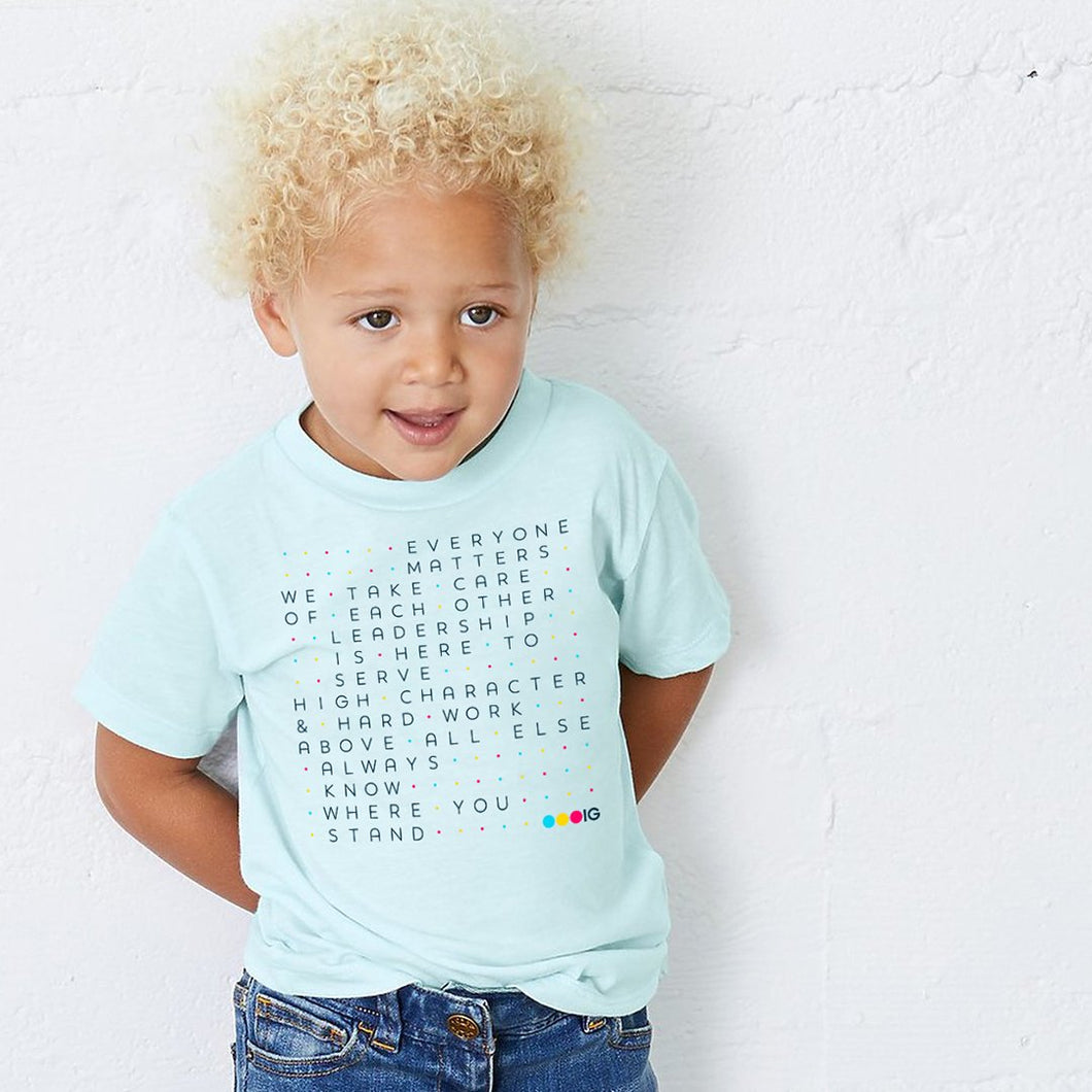 Shared Values Toddler Tee