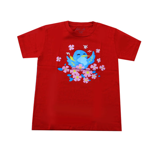 bird-red-t-shirt-children-s