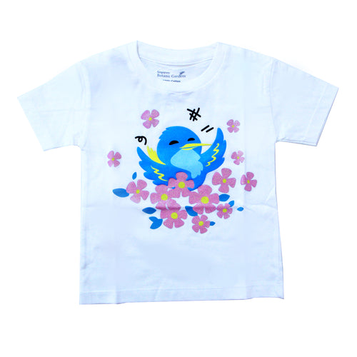 bird-white-t-shirt-children-s