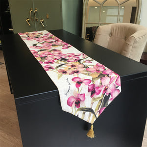 purple-orchid-table-runner