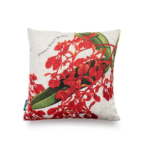 Renanthera Orchid White Cushion Cover