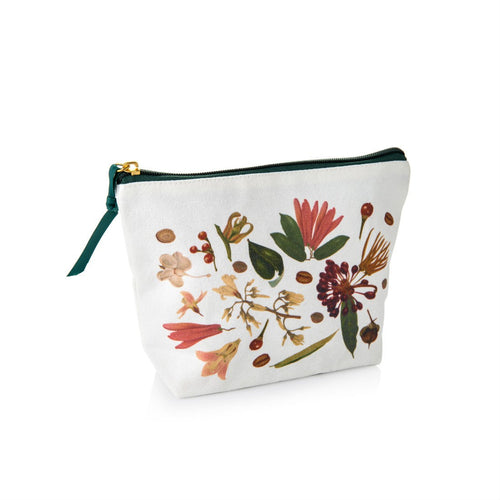 Botanical Print Cosmetic Pouch