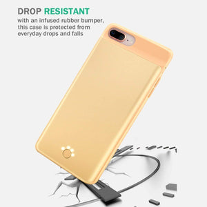 Axe Mobile A1 Ultra-Slim iPhone Battery Charging Case - iPhone 8/7 (Gold)