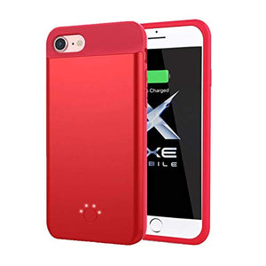 Axe Mobile A1 Ultra-Slim iPhone Battery Charging Case - iPhone 8/7 (Red)
