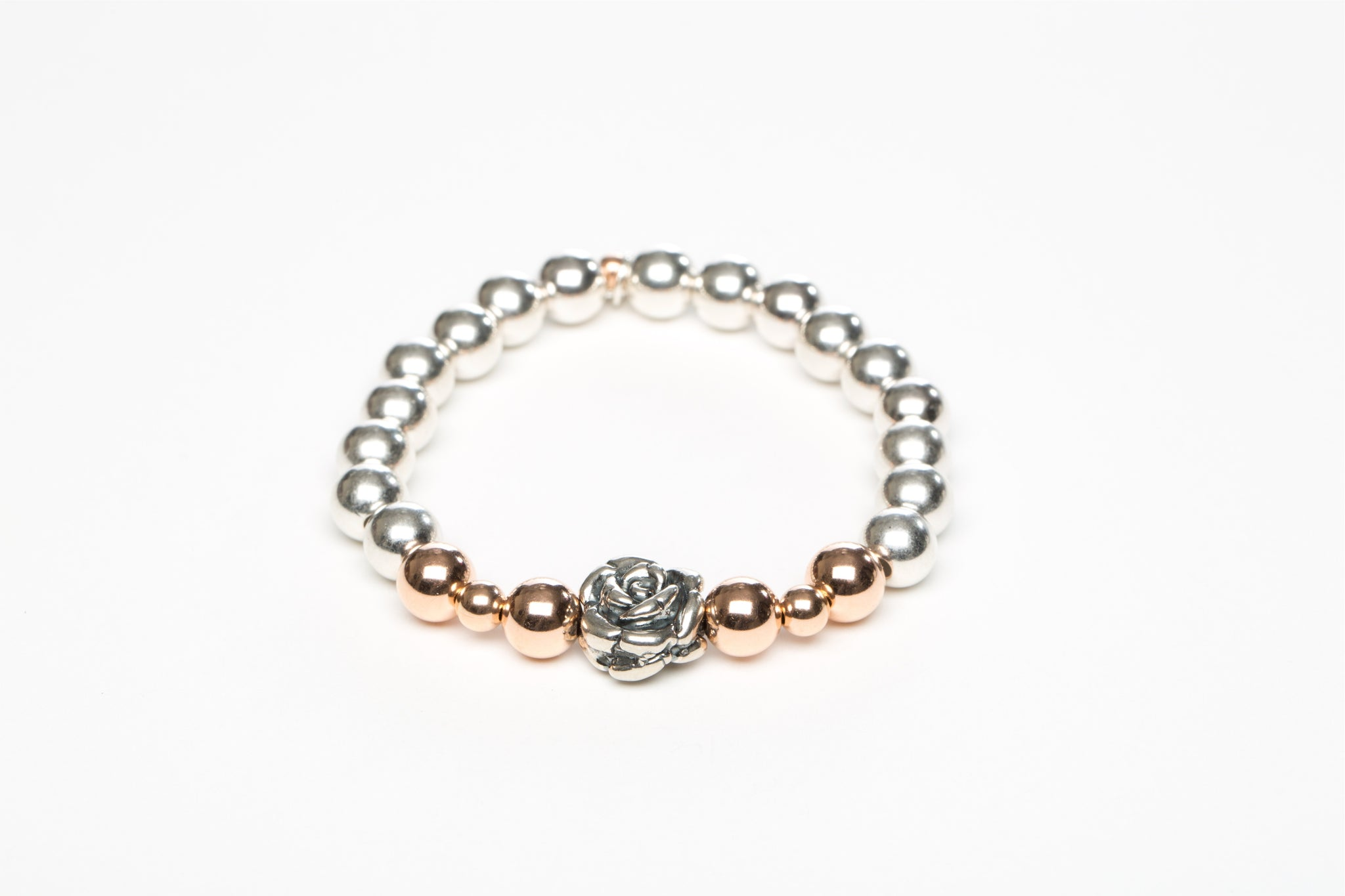 Sterling Silver, 14 Kt Rose Gold