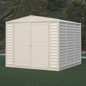 DuraMax 8'x8' DuraMate Vinyl Shed with Floor Kit (00384) - MKSheds