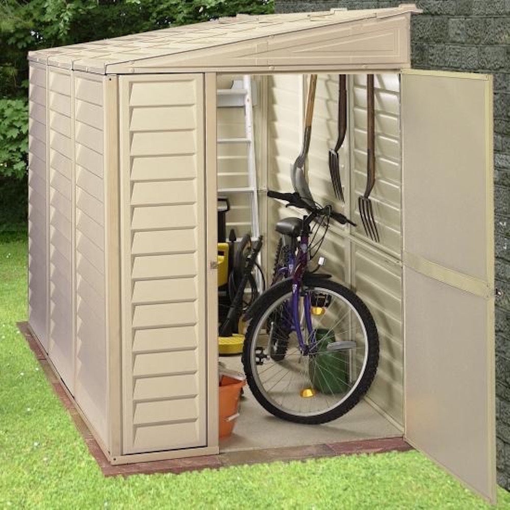 Duramax 4'x8' SideMate Vinyl Shed with Floor Kit (06625) - MKSheds