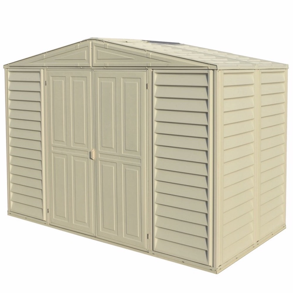 DuraMax 10.5'x5' Woodbridge Vinyl Shed with Floor Kit (00283) - MKSheds